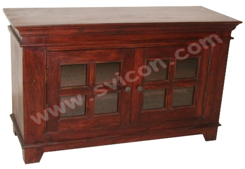 WOODEN SIDE BOARD 2 SLIDING DOOR