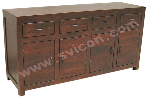 WOODEN SIDE BOARD 4 DRAWER 4 DOOR