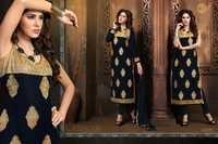 Velvet Embroidery Ladies Dress