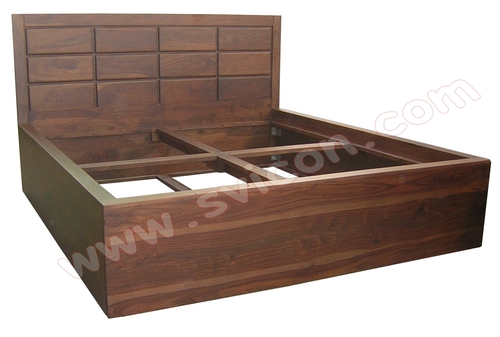 WOODEN STORAGE BED BLOCK DESIGN