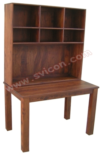 WOODEN TABLE WITH RACK