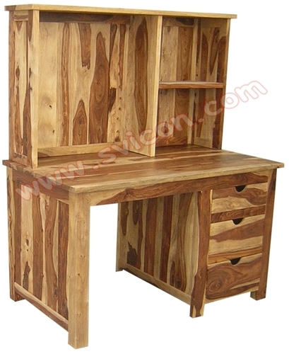 WOODEN OFFICE TABLE WITH RACK