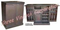 Wooden Folding Bar Cabinet