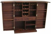 Wooden Folding Diamond Bar Cabinet