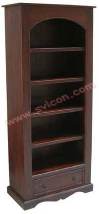 WOODEN BOOKSHELF 1 DRAWER