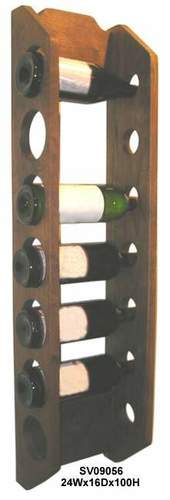 Wooden Wall Bottle Holder