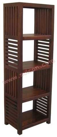 WOODEN BOOK RACK STRIPE DESIGN