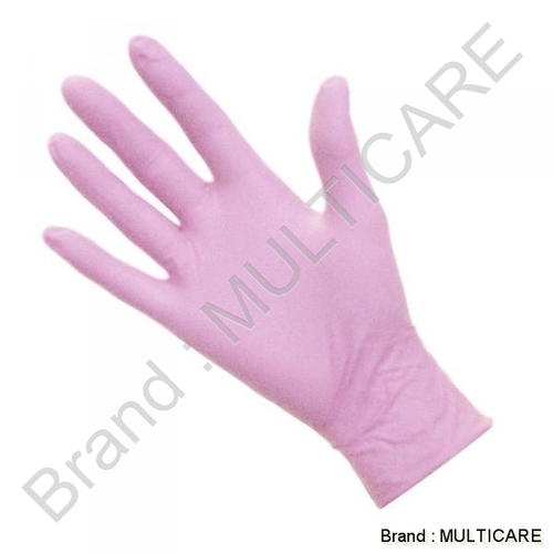 Nitrile Gloves Pink Colour