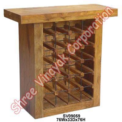 Wooden Bar Rack