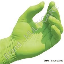 Nitrile Gloves Green Colour