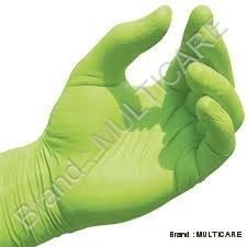 Nitrile Gloves Green Colour