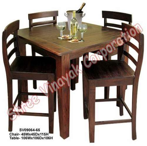 Wooden Bar Table and Chair