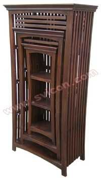 WOODEN BOOK SHELF S/3