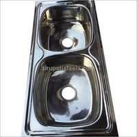 Double bowl kitchen sinks
