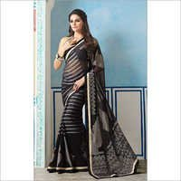 Owomaniya Georgette Designer Saree with Designer Blouse