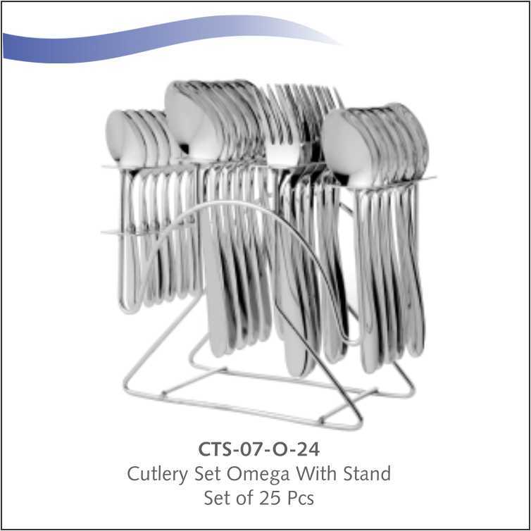 Cutlery set-Omega- 24 pc with Stand