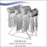 Cutlery set-Alfa- 24 pc with Stand