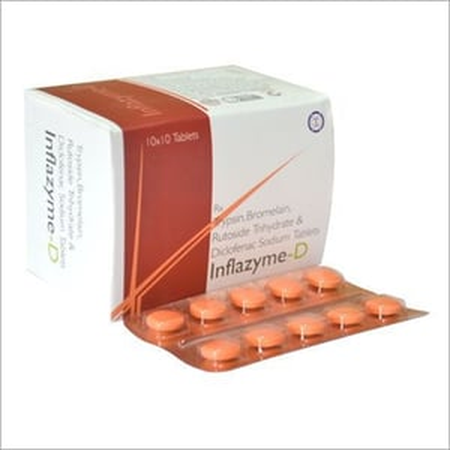 Trypsin, Bromelain, Rutoside Trihydrate & Diclofenac Sodium Tablets