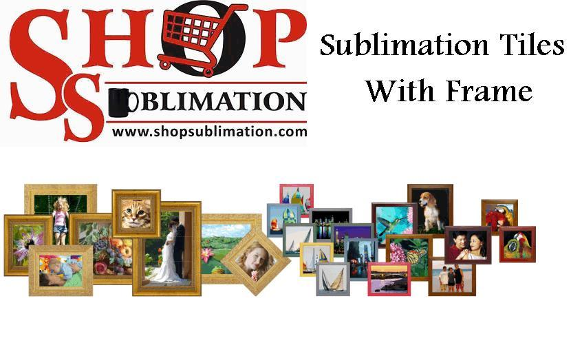Sublimation Tiles with Frame