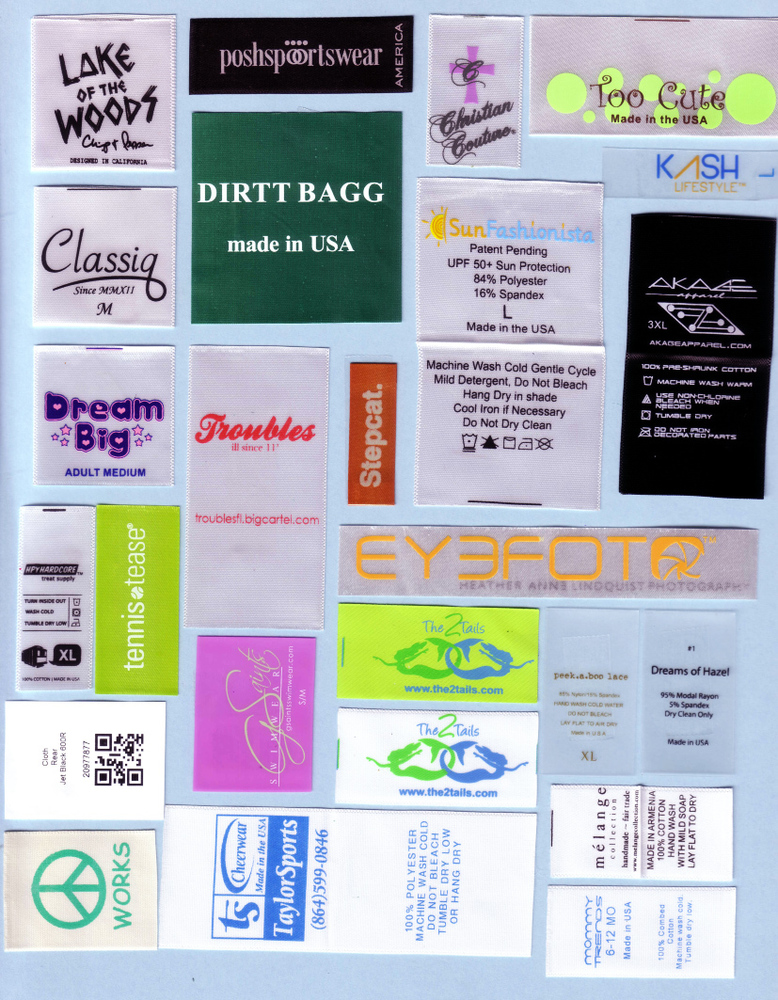 SATIN PRINTED LABELS