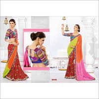 MULTI SHADED GAMTHI DESIGN SAREE