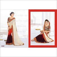 MULTI BROWN SHADED GAMTHI DESIGN SAREE