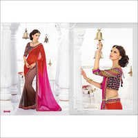 MULTI PINK SHADED GAMTHI DESIGN SAREE