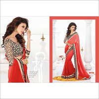 MULTI PEACH SHADED GAMTHI DESIGN SAREE