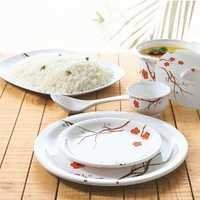 Borosil 35 Pc Melamine Dinner Set - Blossom Milano
