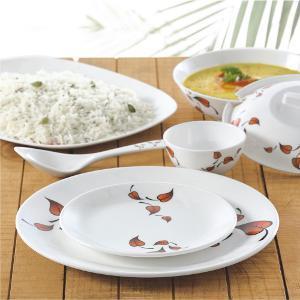 Borosil 35 Pc Melamine Dinner Set - Leaves Fidenza