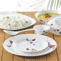 Borosil 35 Pc Melamine Dinner Set - Leaves Fidenza