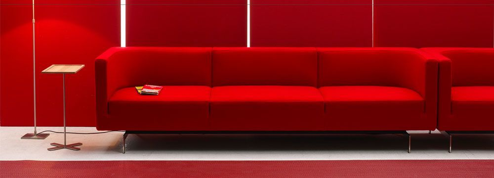 Leather Reception Sofa