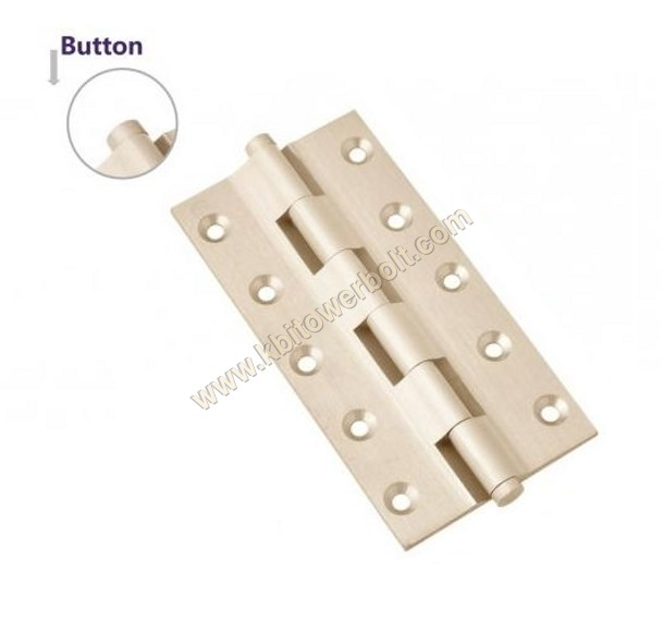 Brass Railway Button Hinges