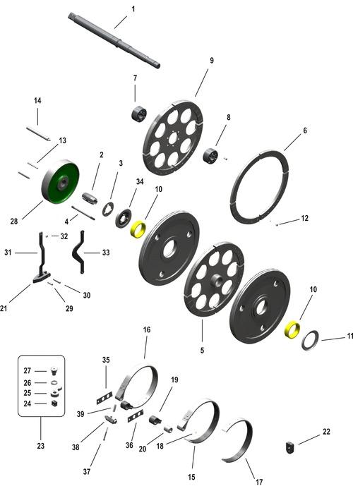 Drive and machine brake