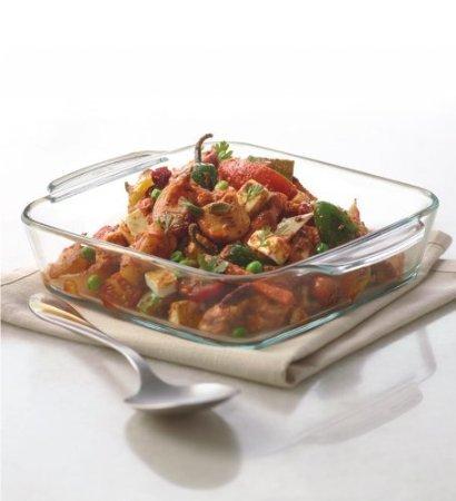 Borosil Square Dish Without Lid 0.8L