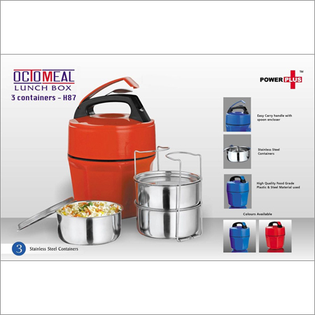 Octomeal Lunch box - 3 containers (steel)
