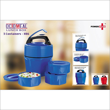 Octomeal Lunch box - 3 containers (plastic)