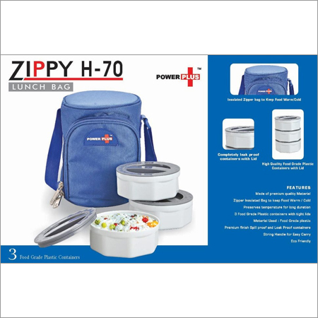 Zippy Lunch bag- 3 containers (plastic)
