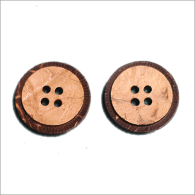 Designer Coconut Shell Button