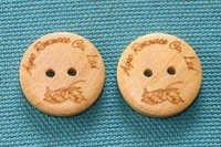 Wooden Garment Button