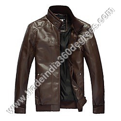 Mens Slim Fit Leather Jacket