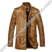 Mens Leather Coat Jacket