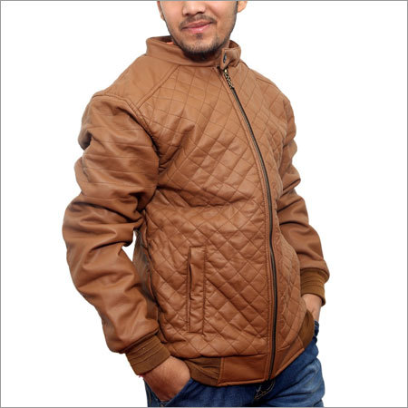 Mens Faux Leather Jacket