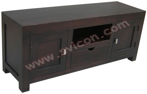WOODEN TV/DVD UNIT 1 DRAWER 2 DOOR