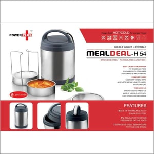Power plus Meal Deal insulated SS Lunch Box
