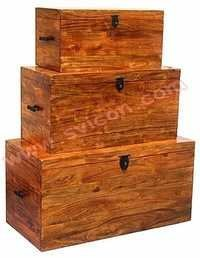 WOODEN BOX S/3