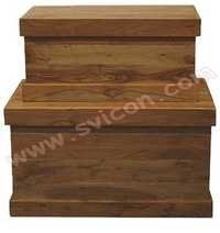 WOODEN BOX S/2