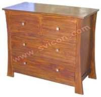 WOODEN 4 DRAWER CHEST (2+2)