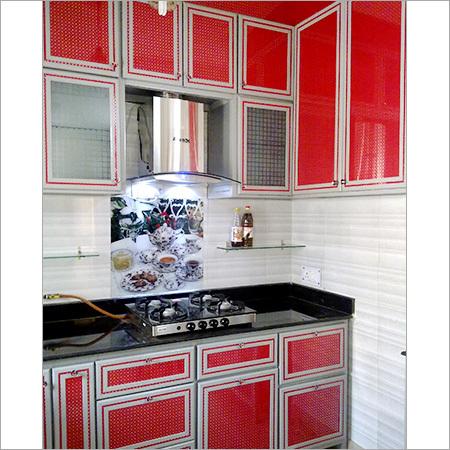 High Gloss Aluminium Modular Kitchen