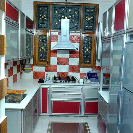 Aluminium Contemporary Modular Kitchen